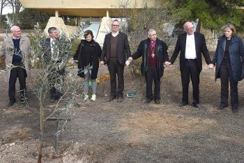 As a symbol of close ties between the ELCJHL and the LWF a delegation of the GNC/LWF planted an olive tree in Jerusalem. Photo: epd/Debbie Hill