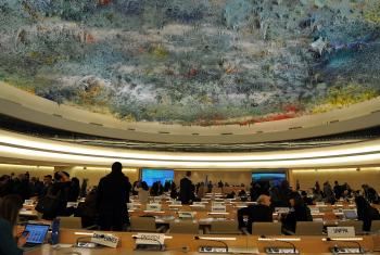 Ceiling of the UN Human Rights Council, by Spanish painter Miquel Barceló. Photo: LWF/C. Kästner