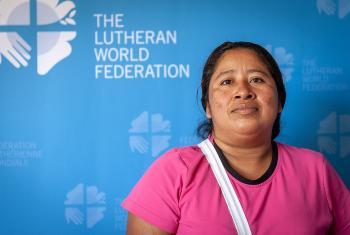 Guatemalan rights defender Maria Corina Ramirez Hernandez is trying to protect the environment as much as the indigenous people. Photo: LWF/Stéphane Gallay