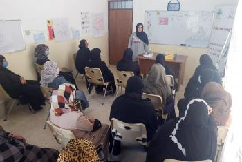 A workshop at the BWA center in Siji. Photo: LWF/ H. Muhammed