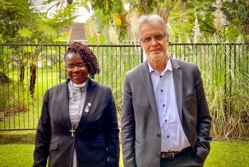 "Gender Justice is ""a matter of life or death"", so both men and women must work together ""to break the silence"" about gender-based violence and commit to work toward gender justice. Rev Elitha Moyo, Evangelical Lutheran Church in Zimbabwe and Rev. Dr Martin Junge, General Secretary of the Lutheran World Federation. Photo: LWF/A. Danielsson"
