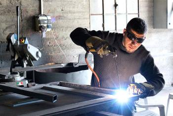 Yousef has opened a metal workshop in Ash-Shuyuk and provides employment to his brother. Photo: LWF Jerusalem/T. Montgomery