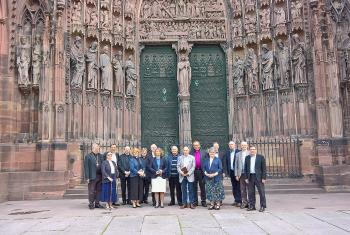 Commission members in front of Strasbourg Cathedral. Photo: LWF