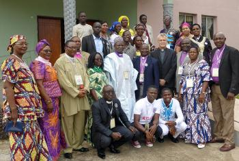 LUCCWA church leaders and LWF General Secretary Rev. Dr Martin Junge at the summit in Monrovia, Liberia. Photo: LWF/Felix Samari