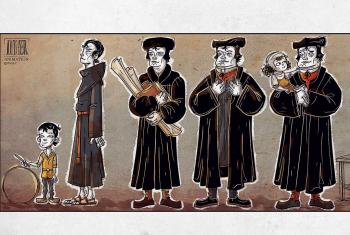 A still from the first animation examining the life of Martin Luther.