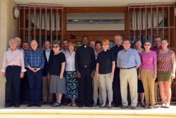 Participants of the consultations in front of the theological institute. Photo: Zsuzsanna Bolla-Horvath/ ELCH