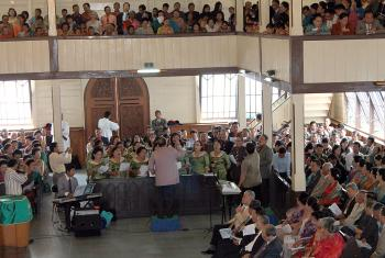 Worship in an Indonesian Lutheran congregation. Photo: HKBP/Fernando Sihotang