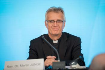 LWF General Secretary Rev. Dr Martin Junge at the LWF's Assembly in Windhoek, Namibia, in 2017. Photo: LWF/Albin Hillert