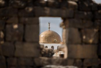 Mosque in Umm el Jimal, Jordan. Photo: LWF/Albin Hillert