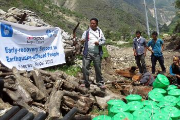 The LWF and Islamic Relief Worldwide joined forces following the Nepal earthquake, April 2015, to provide emergency relief.
