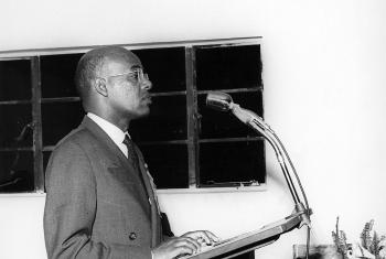Emmanuel Abraham, when he was one of the five co-chairs of the Marangu 1955 conference. Photo: LWF Archives