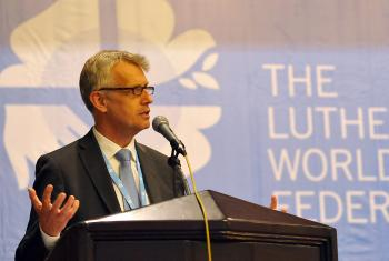 General Secretary Rev. Martin Junge at the LWF Council Meeting in Medan, Indonesia, June 2014. Photo: LWF/M. Renaux