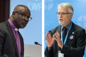 Composite photo. LWF President Musa and General Secretary Junge call churches to confront injustice and inequalities in times of pandemic. Photos: LWF/Albin Hillert
