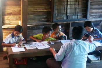 Thanks to the work of the Lutheran churches in Myanmar, children from marginalized communities can go to school and aspire to a brighter future. Photo: LWF/I. Dorji