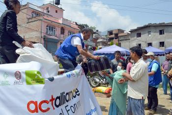 Relief efforts in Nepal. Photo: LWF/DWS Nepal