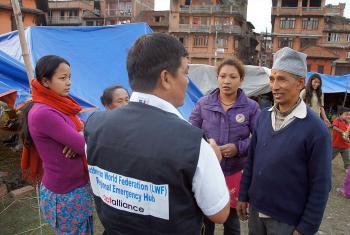 LWF staff discuss the needs of survivors. Photo: LWF/C. Kastner