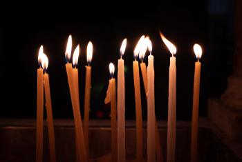 Vigil candles. Photo: LWF/A.S. Danielsson