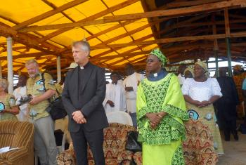 Rev. Martin Junge and Rev. Dr Elieshi Mungure attending the anniversary celebrations. © Felix Samari LCCN/LWF