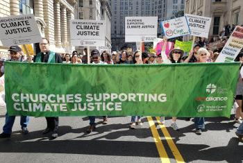 Photo: On the eve of the Climate Action Summit in New York, churches are calling for immediate action to address the climate emergency. ACT/Joanna Patouris