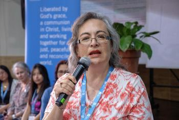 Rev. Angela del Consuelo Trejo Haager, from the Mexican Lutheran Church at the Latin America and the Caribbean & North America leadership meeting in Peru. Photo: LWF/A. Danielsson