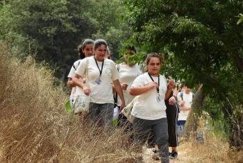 Students from schools in the West Bank take part in the August 2019 training workshop on environmental leadership. Photo: Adrainne Gray