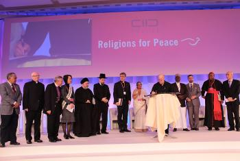 LWF President Younan (third left) at the Religions for Peace Assembly. Photo: Religions for Peace