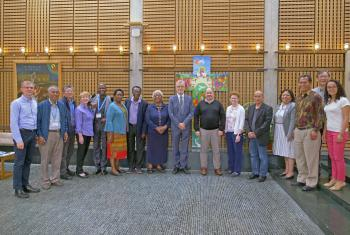Participants of the 2019 Retreat of Newly Elected Leaders with LWF General Secretary Rev Dr Martin Junge and LWF Area Secretaries. Photo: LWF/C. Kästner