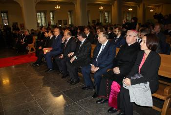 High-level guests at the church service marking the return of the Cathedral St Peter and Paul. Photo: ELKRAS/Elena Djakiwa
