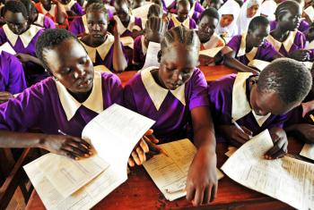 ALP students at Bahr El Naam Girls Primary school in Kakuma refugee camp, Kenya. Photo: LWF/ C.Kästner