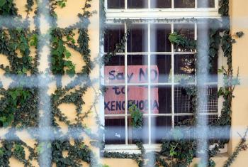 """Say No to Xenophobia"", Harold Cressy High School, Cape Town, South Africa. Photo: Helen Riding (CC-BY-SA)"