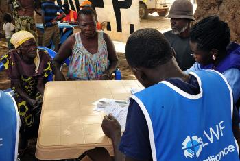 LWF receiving refugees at Lefori collection point, in Northern Uganda. Photo: LWF/ C. Kästner
