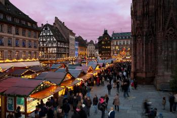 A view of the Christmas market in Strasbourg, France. Photo: Photothèque Alsace/Ch. Hamm