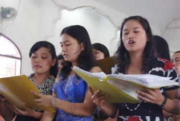 Songs of praise during a worship service in Asia. Photo: LWF/C.Kästner