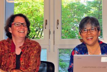 Rev. Dr Simone Sinn, LWF study secretary for Public Theology and Interreligious Relations, and Indonesian interfaith activist Rev. Elga Joan Sarapung. Photo: LWF/P. Mumia