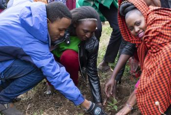 Young people from the Kenya Evangelical Lutheran Church lead a tree-planting campaign. Photo: KELC Youth