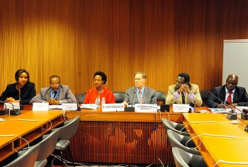 Panel discussion on rights of refugees in protracted situations. Photo: LWF/C. Kästner