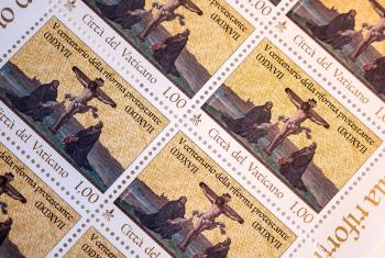 Postage stamp commemorating the 500th anniversary of the Reformation. Photo: LWF