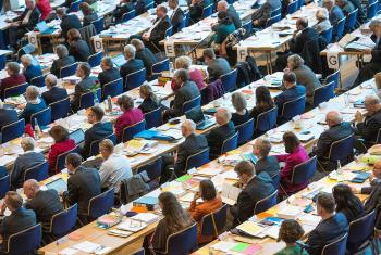 Delegates to the VELKD General Synod and to the EKD Synod deliberated more youth participation in decision-making bodies. Photo: epd Bild