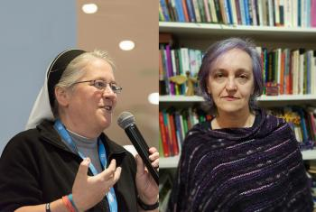 Speakers at Being Lutheran Webinar 2: (Left) Sister Dr Nicole Grochowina, Germany, and Rev. Dr Marcia Blasi, Brazil. Photo: LWF/Albin Hillert & Faculdades EST