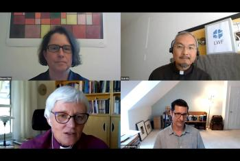 A screenshot of the webinar on the churches' response to populism. Photo: LWF