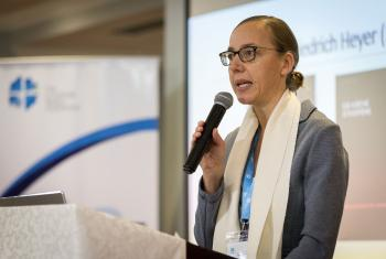 Prof. Dr Jennifer Wasmuth, Director of the Institute for Ecumenical Research in Strasbourg, France. Photo: LWF/Albin Hillert