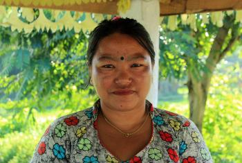 Amrita Rai works as a volunteer in Sanischare Refugee Camp. Photo: LWF Nepal
