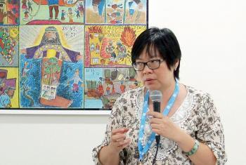 Rev Au Sze Ngui at the 2014 WICAS Asia meeting. Photo: LWF/C. Rendón