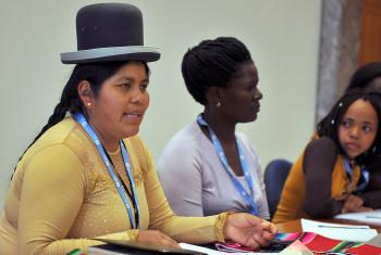 An LWF participant at the gender justice training course, Rita Flore, says the pain of discrimination drives her determination to overcome the situation. Photo: LWF/S.Gallay