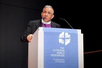 Meeting of the LWF Council, Wittenberg, Germany, 15–21 June 2016. President's address by Bishop Munib A. Younan. Photo: LWF/Marko Schoeneberg
