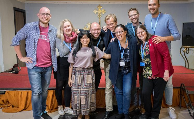 Young Lutherans gathered at the global consultation in Addis Ababa, Ethiopia, in October 2019 on the theme of 'We believe in the Holy Spirit: Global Perspectives on Lutheran Identities'. Photo: LWF/Albin Hillert