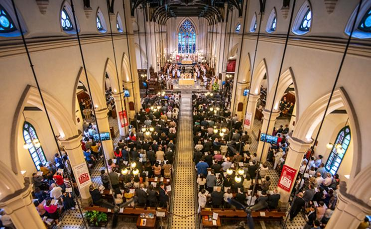 The congregation at St John's Cathedral, Hong Kong, for the official opening of ACC-17. Photo: ACNS