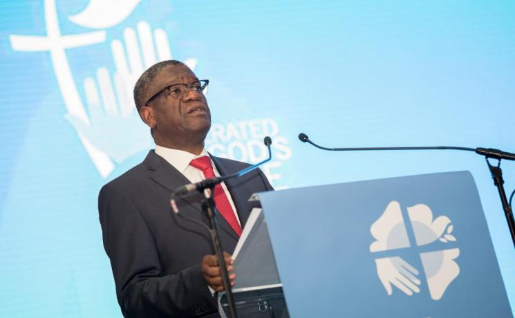 Dr. Denis Mukwege at the Lutheran World Federation's Twelfth Assembly. Photo: LWF/Albin Hillert