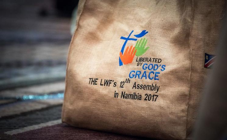 "9 May 2017, Windhoek, Namibia: Liberated by God's Grace imprinted everything at the Twelfth Assembly of the Lutheran World Federation, gathering in Windhoek, Namibia,10-16 May 2017, under the theme ""Liberated by God's Grace"", bringing together some 800 delegates and participants from 145 member churches in 98 countries. Photo: LWF/Albin Hillert"