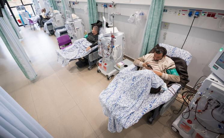 Patients receive Dialysis treatment at the Augusta Victoria Hospital. Photo: LWF/Albin Hillert.